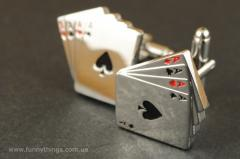 Cuff links 4 aces