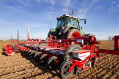 Seeders are tractor. Seeder of dotted seeding of