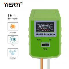 Измеритель кислотности pH, влажности, освещенности почвы YiERYi ЕТП-304 (3 в 1)