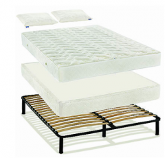 Double beds with a mattress
