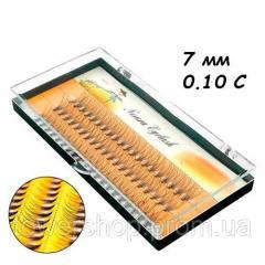 Ресницы пучковые накладные 7мм 0.10 С шелковые