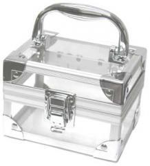 Прозрачный акриловый мини-кейс для косметики