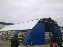 Construction of the arch hangar 10*24