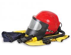 Helmet of the sandblaster of Comfort, Aspect