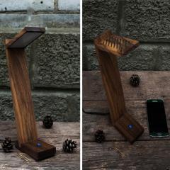 Деревянная лампа оригинальный подарок на день