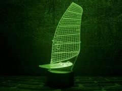 3D светильник в виде Парусника оригинальный