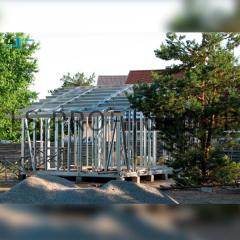 Galvanized profile country house frame