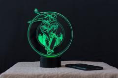 """3D светильник-ночник """"Скейтбордист""""..."""