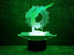 """3D светильник-ночник """"Йога 2 """" оригинальный..."""