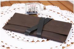 Тревел-кейс Орех кожаный оригинальный подарок на
