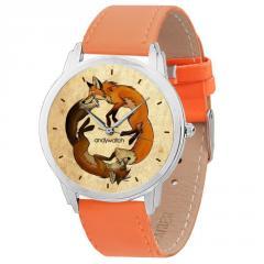 Наручные часы AndyWatch Две лисы Подарок на...