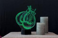 """3D светильник-ночник """"Бокс"""" оригинальный..."""