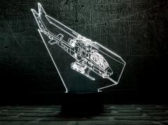 """3D светильник ночник """" Вертолет 2 """"..."""