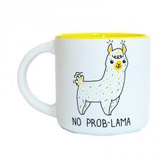 Чашка No Prob-Lama оригинальный подарок на день