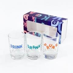 Набор рюмок Drunk оригинальный подарок на день