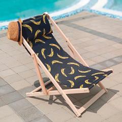 Шезлонг деревянный Бананы Подарок на Новый год