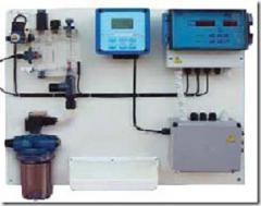 Station of dosing of chlorine. Chlorine the