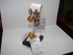 *Артикул 0520, Кольцо - золото 585 пробы (Вставки