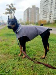 Флисовая жилетка для собак цвет серый 7XL