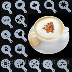 Трафареты для кофе 16 шт./упак.