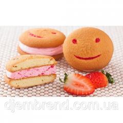 Печенье Хаха-тун (смайлик) с клубникой,  1,...