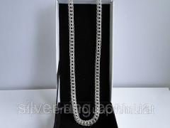 Стильная серебряная цепочка