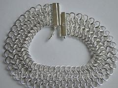 Широкий,  ажурный браслет