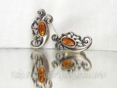 Изысканные серьги с Прибалтийским янтарем