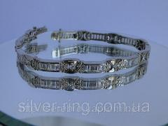 Нарядный браслет из радированного серебра