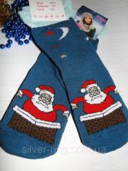 """Женские носки """"Дед мороз"""""""