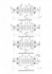 Линейный изолятор ЛКЦ 70-220-5