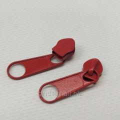 Бегунок Тип 5 для рулонных молний, красный 100шт. (6-2426-В-703)
