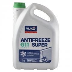 Антифриз YUKO-40 Super G11 зеленый 5л/5 кг