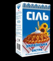 """Соль """"Экстра"""" в пачках 1 кг"""