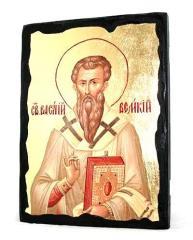 Икона Василий Великий (подарочный вариант) 13×17