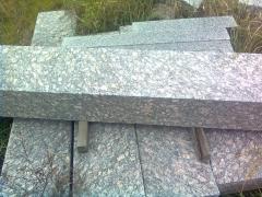 Granite border of GP-1,2,3,4, sawn, termicheny,