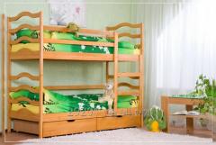 Двухъярусная кровать София из натурального дерева