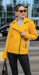 Куртка букле демисезонная NB19059 р42 желтая