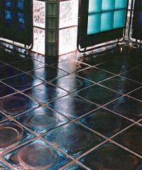 Wearproof tile from basal