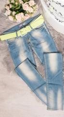 Женские джинсы Fashion Woman KS434520 голубые р44