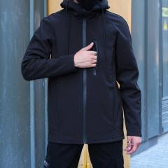 Мужская ветровка Fashion Man M14278 черная рL