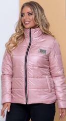 Женская демисезонная куртка NB20040 р56 пудра