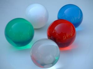 Silicone spheres