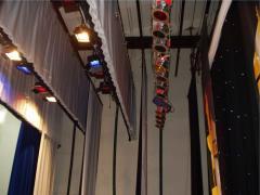 Scenic equipment for auditoriums.