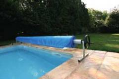 Roleta for the pool. The reeling-up device.