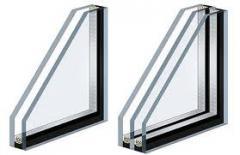 Double-glazed windows, multilayered double-glazed