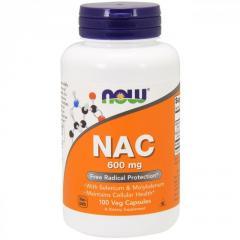 NAC (N-Ацетил-L-Цистеин) 600мг,  Now Foods, ...
