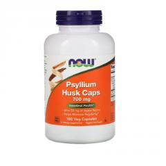 Подорожник (Псилиум), Psyllium Husks, Now Foods,