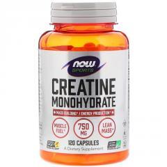 Моногидрат креатина, 750 мг, Now Foods, Creatine