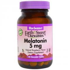 Мелатонин 5мг,  Вкус Малины,  Earth Sweet...